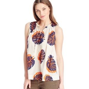 Lucky Brand Leafs Printed Sleeveless Top